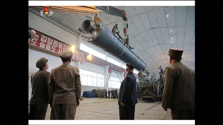 Kim Jong Un watches latest missile launch
