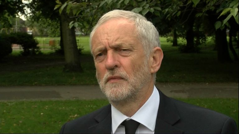 Labour leader Jeremy Corbyn has condemned the actions of the terrorist in the Manchester Arena.