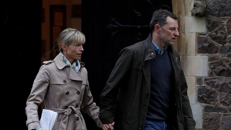 Kate and Gerry McCann leave the 10th anniversary after the service in Rothley