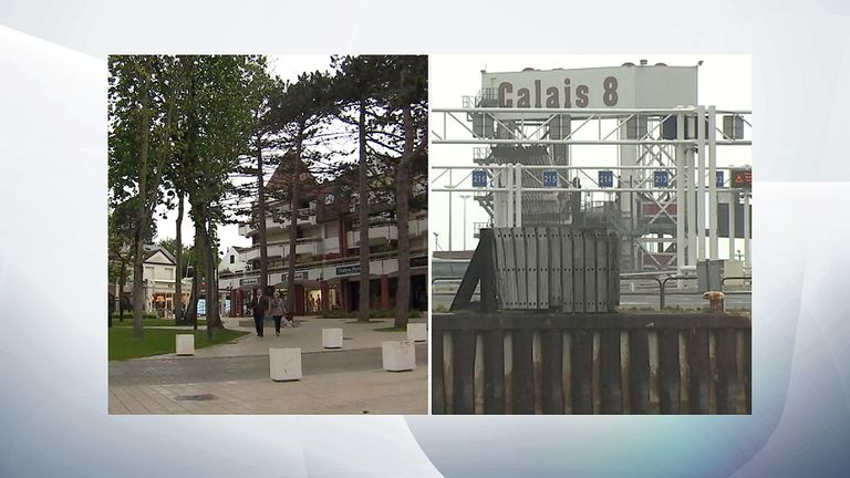 Le Touquet and Calais
