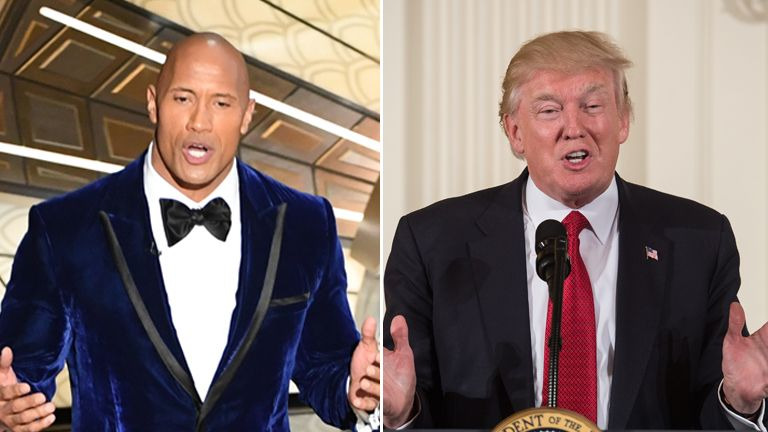 Dwayne The Rock Johnson and President Trump