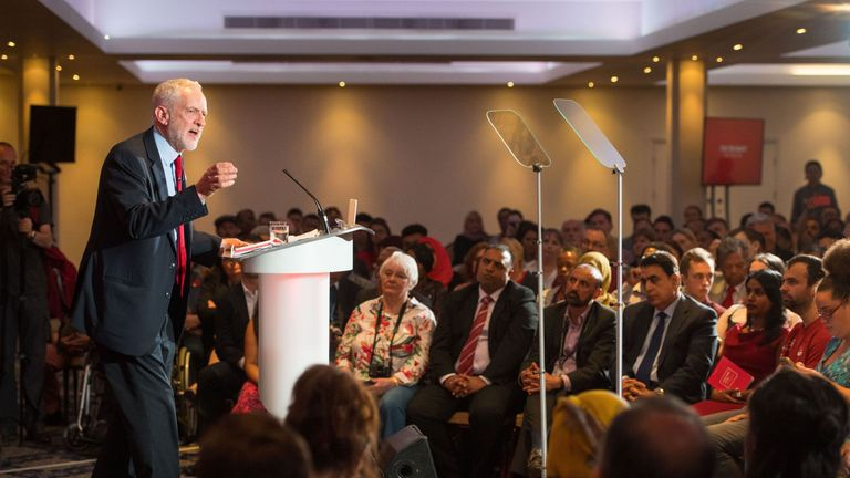Labour leader Jeremy Corbyn launches the party's race and faith manifesto