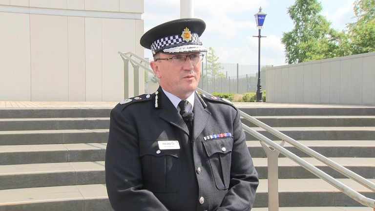 Chief Constable Ian Hopkins confirms the police are investigating a terrorist 'network'