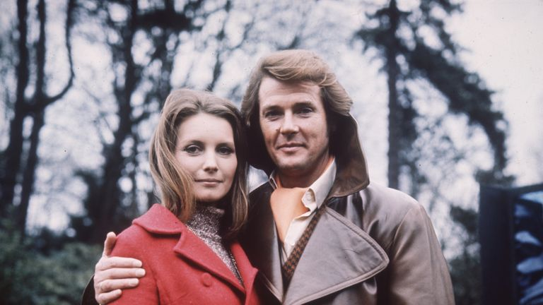 1972: Roger Moore sports a coiffured hairdo as Lord Brett Sinclair in the 70s television series 'The Persuaders'