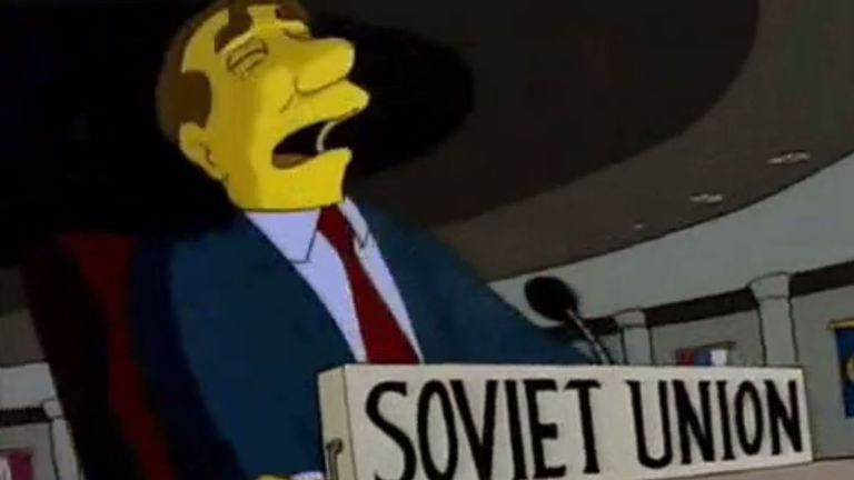 Ukraine taunted Russia with a GIF from The Simpsons
