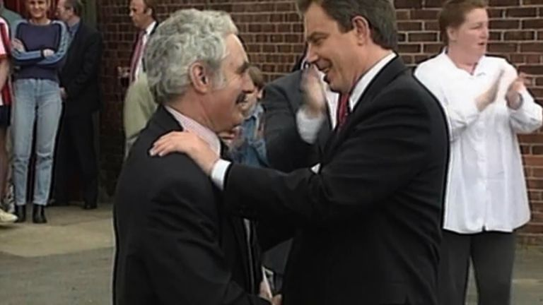 Tony Blair with John Burton in 1997