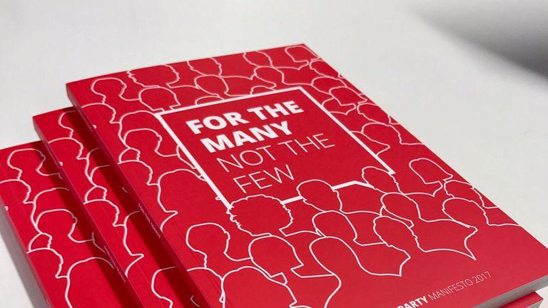 Labour's manifesto. Pic: @jeremycorbyn
