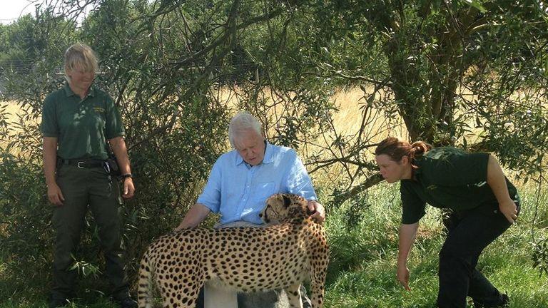 Rosa King (R) with Sir David Attenborough in 2014