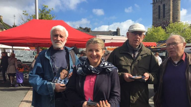 Corinne Ehrel pictured campaigning on 2 May