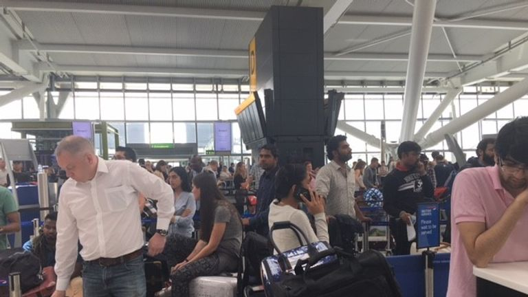 Thousands are stranded at Heathrow airport