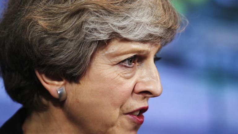 UK Prime Minster Theresa May.