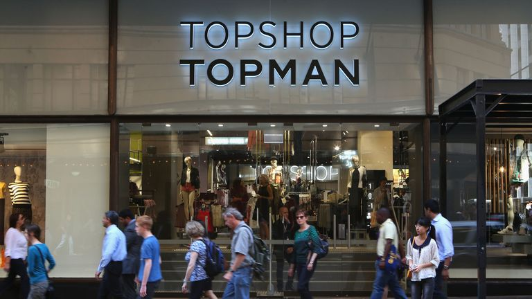 A Topshop store in Sydney Australia