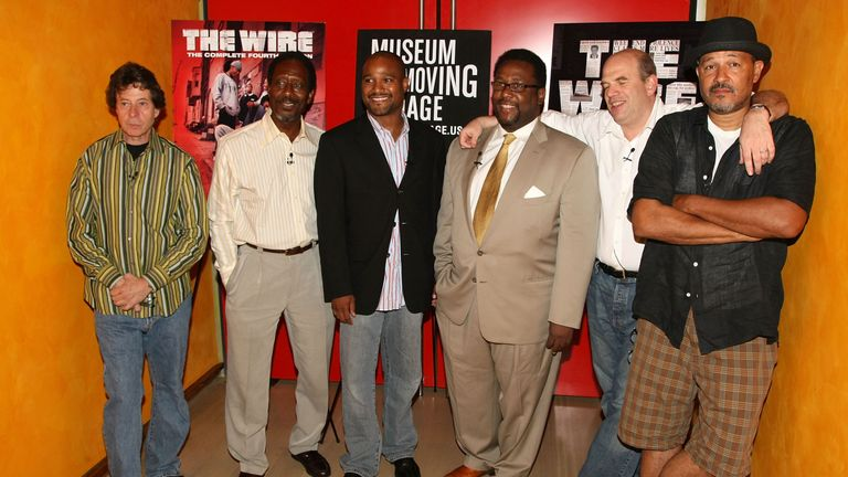 The Wire's Richard Price, Clarke Peters, Seth Gilliam,Wendell Piere, David Simon and Clark Johnson