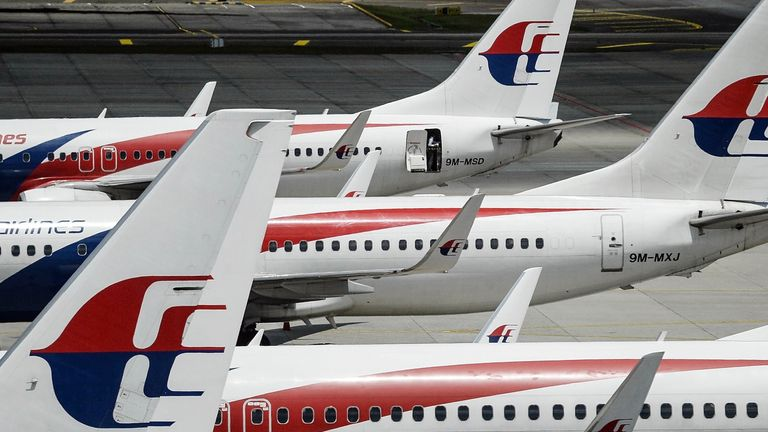 The flight landed at Melbourne Airport at 11.40pm local time. File pic