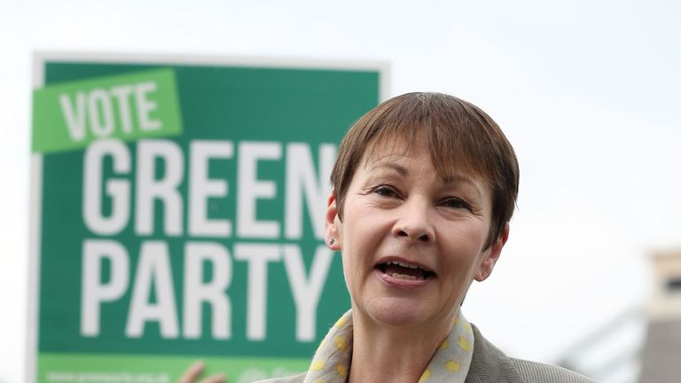 Party co-leader Caroline Lucas