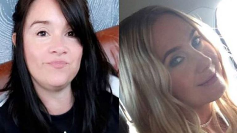 Alison Howe (L) and Lisa Lees (R) were waiting for their children