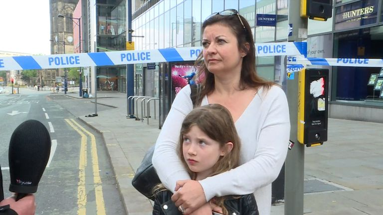 Kirstyn Pollard and her daughter were in the arena when the bomb went off