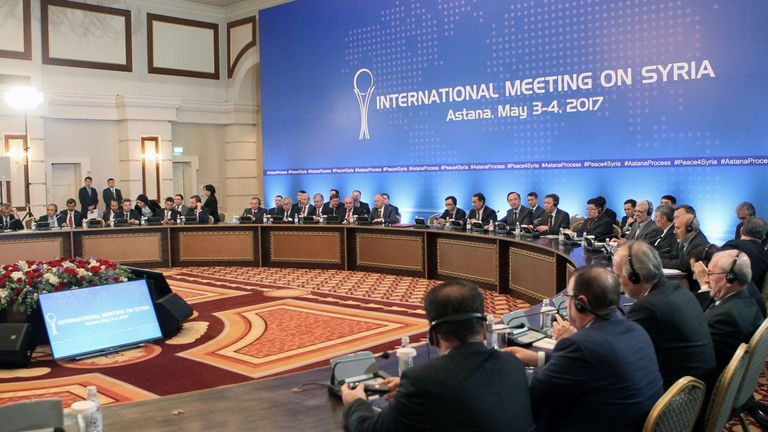 The safe zone pact brokered by Russia, Iran and Turkey is signed in Astana