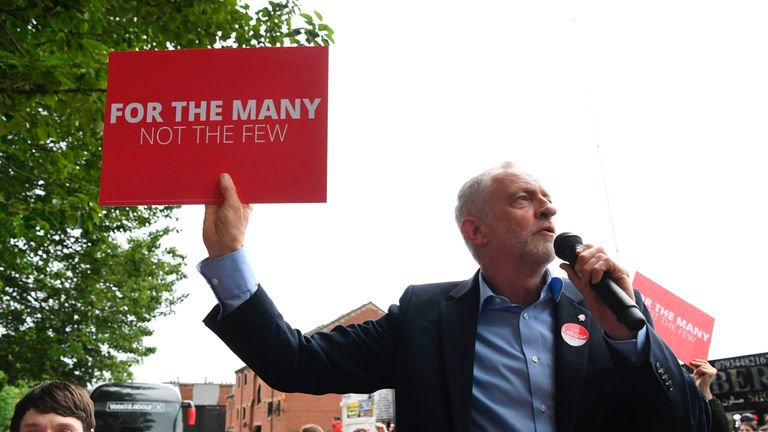 """Jeremy Corbyn launches his manifesto """"for the many, not the few"""""""