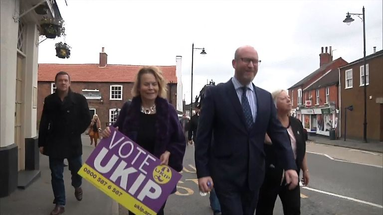 Mr Nuttall was back out campaigning in Lincolnshire