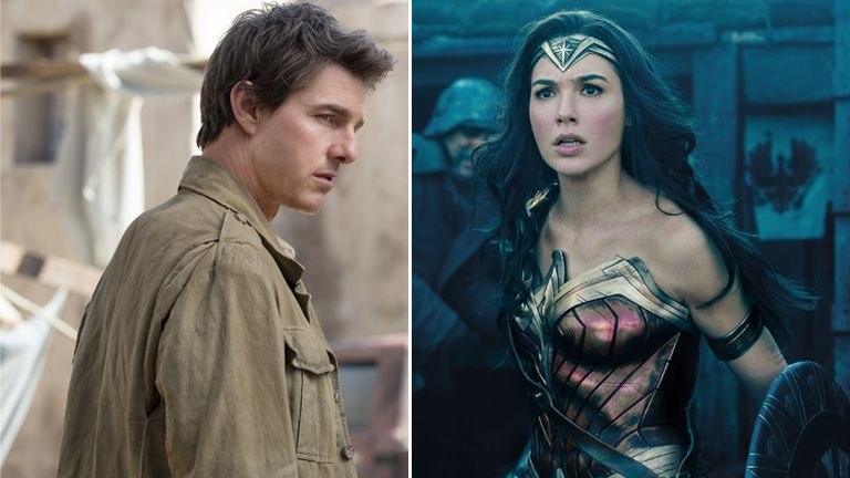 The Mummy and Wonder Woman were two of the films which saw their premiere postponed