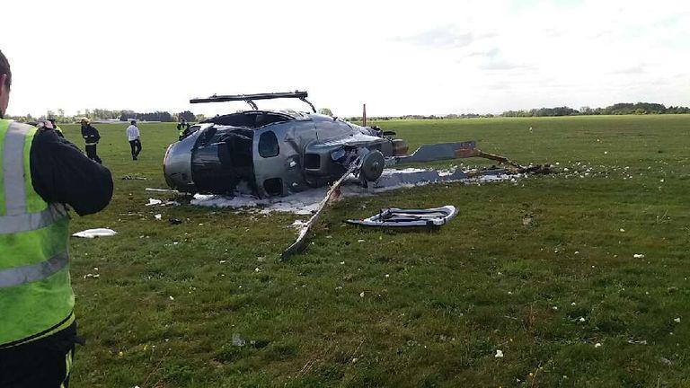 Scene of the crash. Pic: South Central Ambulance Service