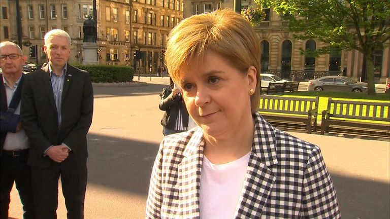 First Minister Nicola Sturgeon on the day after the local elections