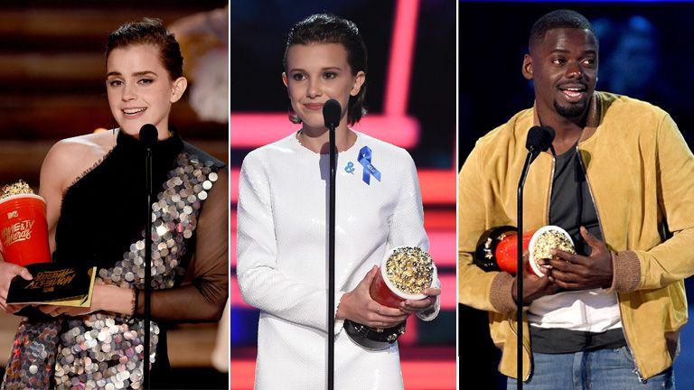 Watson, Brown and Kaluuya were the three Brits honoured at the MTV Awards