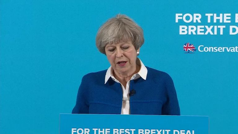 Prime Minister Theresa May says Jeremy Corbyn is not ready to lead