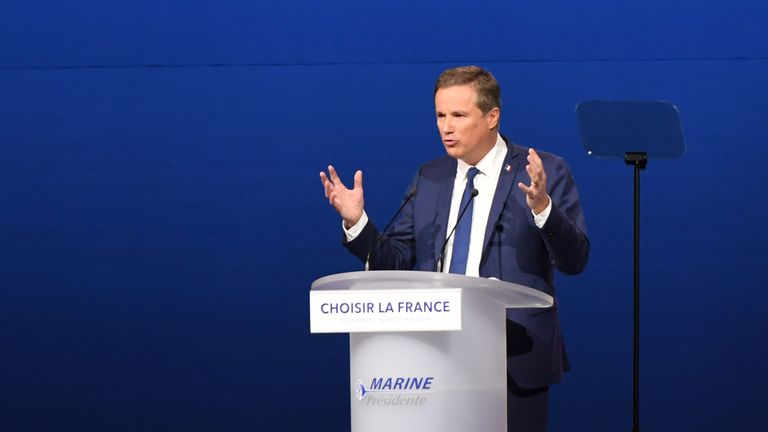 Former French presidential election candidate Nicolas Dupont-Aignan is backing Marine Le Pen