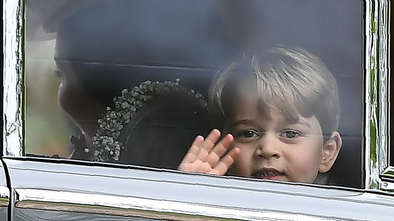 Prince George is a pageboy at his Aunt's wedding