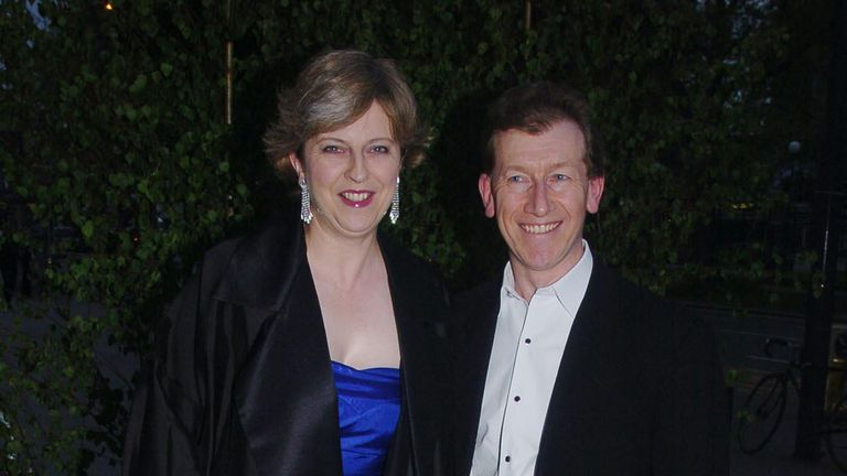 Theresa and Philip May together in 2004