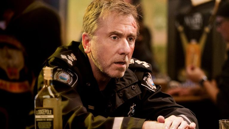 Roth plays troubled police chief Jim Worth in the new Sky series
