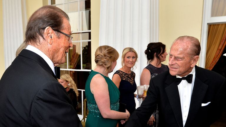 He met Prince Phillip at a celebration for the 60th anniversary of The Duke of Edinburgh's Award in 2016