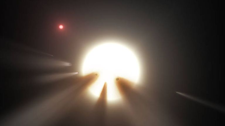 This illustration of Tabby's Star was released by NASA.  Pix: JPL-Caltech