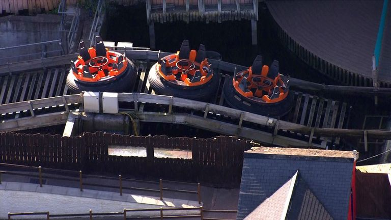 The girl fell off the Splash Canyon ride at Drayton Manor