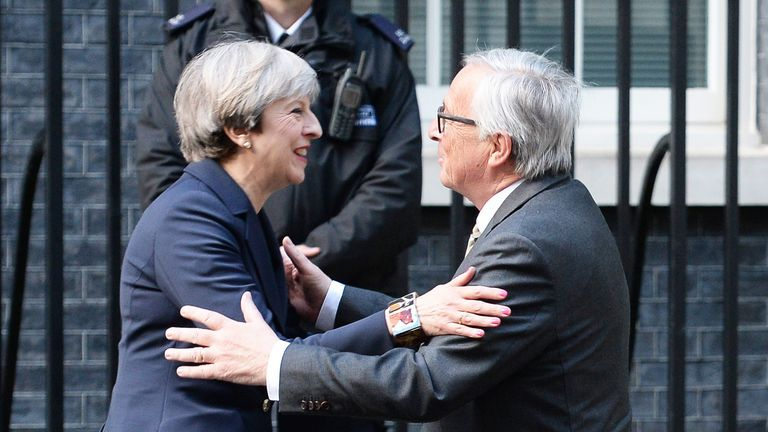 Reports suggest Theresa May's working dinner with Jean-Claude Juncker did not go well
