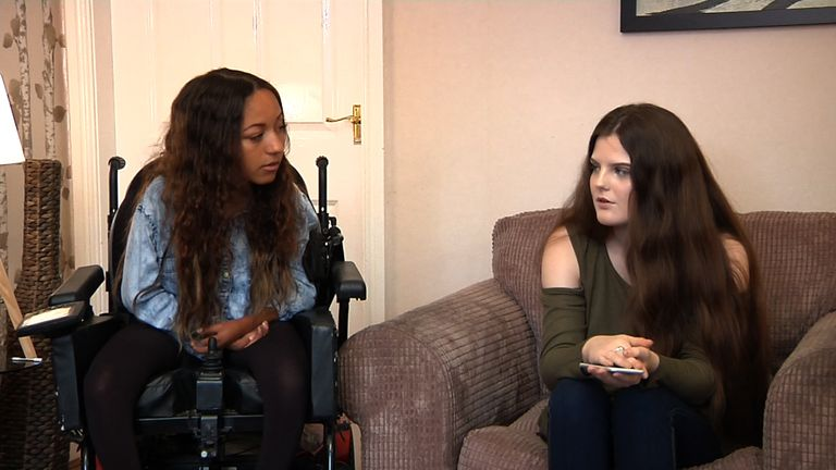 Klicea was helped from Manchester Arena by her friends during the attack