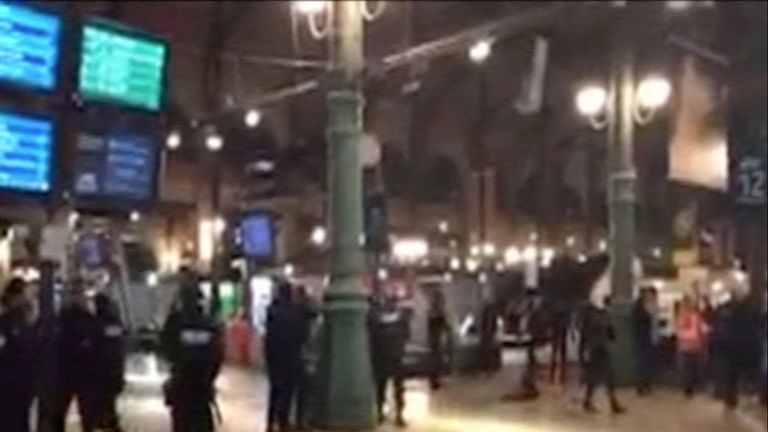 The Gare du Nord was evacuated on Monday night
