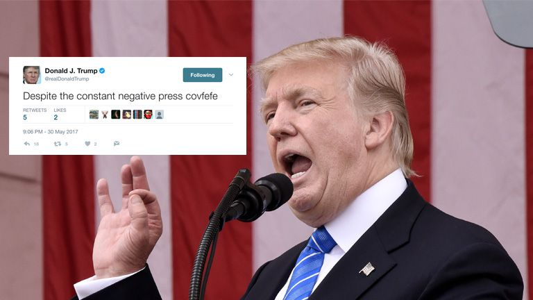 Donald Trump's Covfefe tweet
