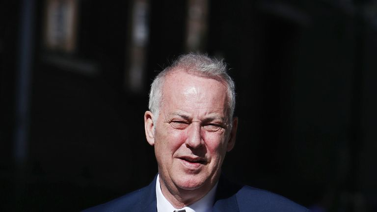 Michael Barrymore leaves the High Court in London