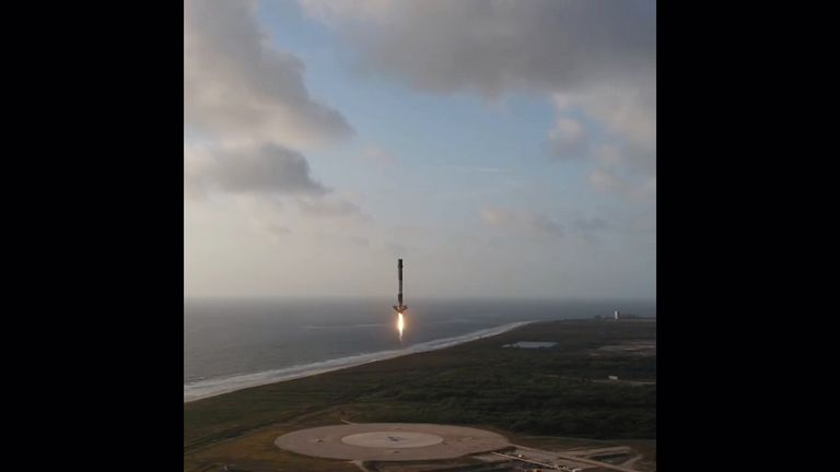 SpaceX rocket landing