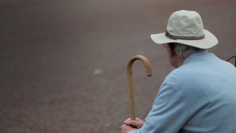 Senior citizens relax on Llandudno Promenade on September 8, 2014 in Llandudno, Wales