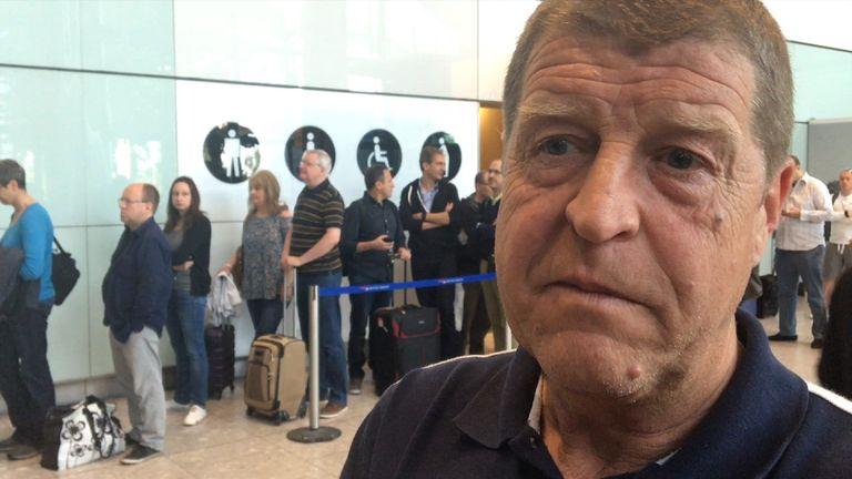 Stranded passenger Graham Saunders