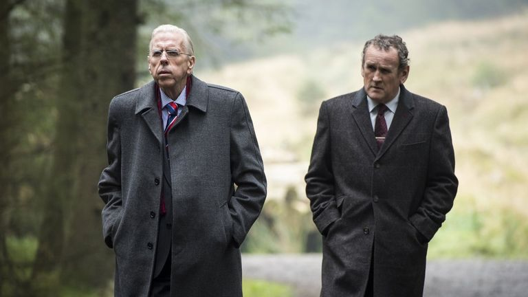 Spall and Meaney play Dr Ian Paisley and Martin McGuiness in the movie
