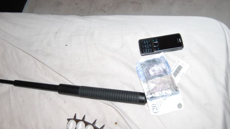 Officers also recovered two pen guns and various offensive weapons including knives and knuckle duster