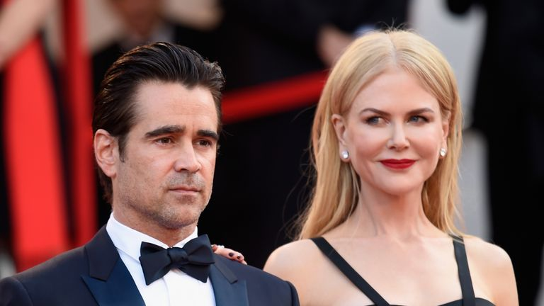 Nicole Kidman and Colin Farrell in Cannes