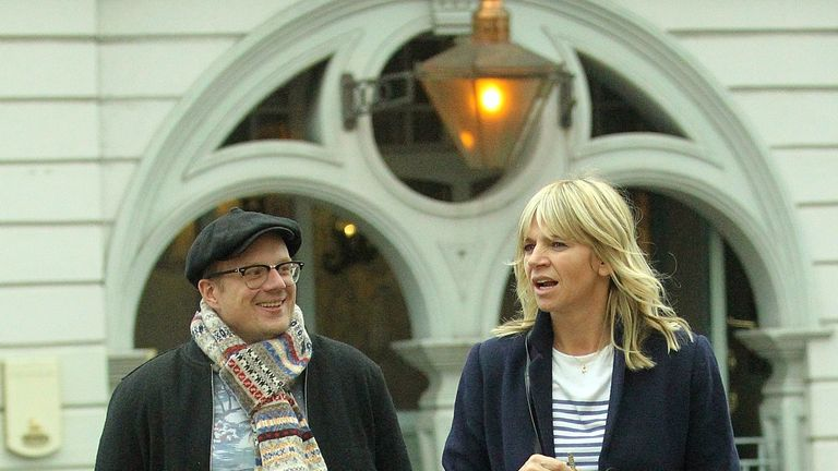 Billy Yates and Zoe Ball. Pic: Flynet Pictures