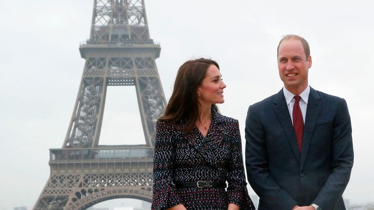 Kate and William during a visit to Paris in March