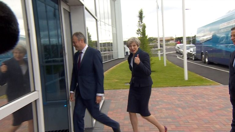 Theresa May is optimistic about the Conservative Party manifesto